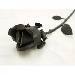 Handgeschmiedete Rose 40 cm MINI, geglänzt.
