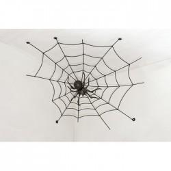 Geschmiedete  Spinne im Netz